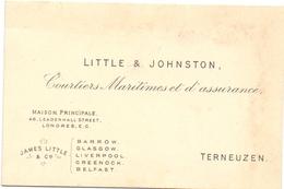 Visitekaartje - Carte Visite - Visiting Card - Little & Johnston - Courtiers Maritimes Londres - Terneuzen - Cartes De Visite