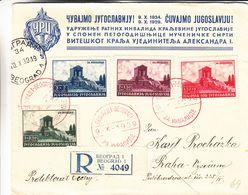 Yougoslavie - Lettre Recom De 1939 ° - Oblit Beograd - Exp Vers Praha - Monuments - Valeur 36 Euros - 1931-1941 Kingdom Of Yugoslavia