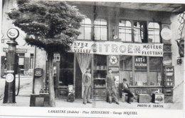 LAMASTRE - Place Seignebos - Garage Miquiel -Pompe A Essence -  Retirage Tracol  (A42)) - Lamastre