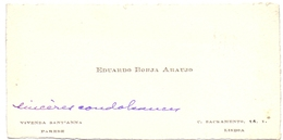 Visitekaartje - Carte Visite - Visiting Card - Eduardo Borja Araujo - Parede - Lisboa - Cartes De Visite