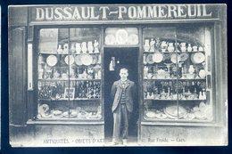 Cpa Du 14 Caen Devanture De Magasin Dussault Pommereuil Antiquités Objets D' Art 31 Rue Froide Caen     AVRIL18-28 - Caen