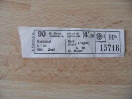 Bruxelles Ticket De Tramway Bockstael Bord Rogier - Tram