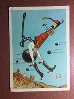 Vintage Russian Postcard 1957 Baron Munchausen Fantastic Flight On Core Of Cannon By Valka. QSL Radio Card UA3 - Fairy Tales, Popular Stories & Legends