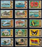 C0406 KIRIBATI 1981,  SG O11-O25  First Definitive Overprinted Official,  MNH - Kiribati (1979-...)