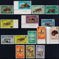 D0185 TUVALU 1983,  SG O20-34  Official Overprint On Handicrafts - Tuvalu