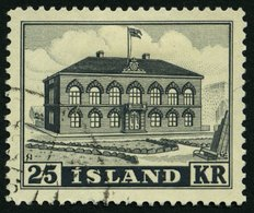ISLAND 277 O, 1952, 25 Kr. Parlament, Pracht, Mi. 19.- - Ohne Zuordnung