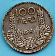 (r65)   BULGARIE  100 Leva 1934  Silver-argent  KM#45 - Bulgaria