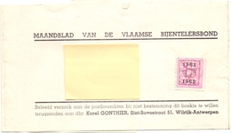 Wikkel Maandblad Vlaamse Bijentelersbond - Karel Gonthier  Wilrijk Naar Maria Aalter - 1961 - 1962 - Stamped Stationery
