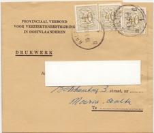 Wikkel - Verbond Veeziektebestrijding Oost Vlaanderen  Naar Maria Aalter  1962 - Stamped Stationery