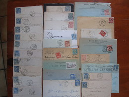 LOT 27 LETTRES FRANCE SURTOUT EURE 27 - Marcophilie (Lettres)