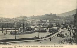 30 - ALAIS -  PLACE DE LA REPUBLIQUE - VUE PRISE DU DOME DES NOUVELLES GALERIES - Alès