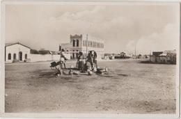 CPA DJIBOUTI Grande Place Du Village Indigène Real Photo Timbre Stamp 1937 - Djibouti