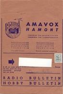 Wikkel - Omslag Enveloppe - Pub Reclame Radiotechniek Amavox Hamont - 1963 - 30 C - Stamped Stationery