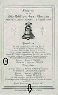 Souvenir De La Bénédiction Des Cloches - SAINTE-MARIE-D'OIGNIES, Le 18 Octobre 1908 - Religion & Esotérisme