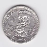1 Dollar Canada Commémoratif 1858/1958   TTB à SUP   Argent - Canada