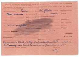 Cp Entier Postal, Correspondance De La Mairie De Vaivre à Cours De Pile (Dordogne) ( état )  ( PHI ) - Entiers Postaux