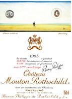 Etiquette Vin Mouton Rothschild, 1983, Dessin Inédit De Steinberg, 150 Cl - Rouges
