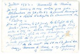 Cp Entier Postal, Correspondance Du Préfet De La Creuse, Guéret, Adressée à Vaivre   ( PHI ) - Cartes Postales Types Et TSC (avant 1995)