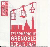 Grenoble Ticket Aller Retour Réduction  Téléphérique Bastille Delc /1119 - Europe
