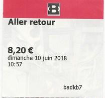 Grenoble Ticket Aller Retour Plein Tarif Téléphérique Bastille Delc / 1118 - Europe