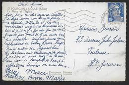 15 Fr Gandon Perforé E.D.F. Sur Carte Postale - France