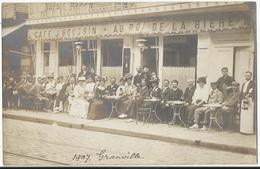 50. GRANVILLE - (CARTE PHOTO ) CAFE HOUSSIN DEVANTURE Au Roi De La Bière - 1907 (Manche) - Granville