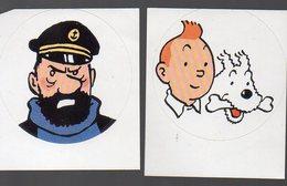 Lot De 2 Autocollants HERGE: Tintin Et Haddock (PPP13422) - Other