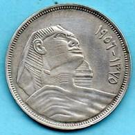 (r65)  EGYPTE  20 Piastres 1956  Silver-argent KM#384 - Egypt