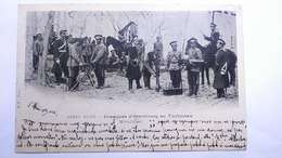 Carte Postale (F1) Ancienne De Armée Russe , Cosaques D Orenbourg Au Turkestan , Mitrailleuse - Cartes Postales