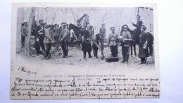 Carte Postale (F1) Ancienne De Armée Russe , Cosaques D Orenbourg Au Turkestan , Mitrailleuse - Cartoline