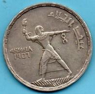 (r65)  EGYPTE  50 Piastres 1956  Silver-argent KM#386 - Egypt