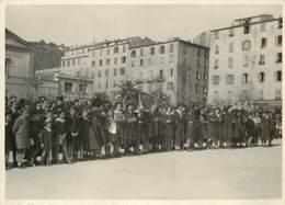 AJACCIO (années30/40) - Rassemblement Scouts,place Du Diamant,cours Grandval (photo Tomasi Format 17,5cm X 12,6cm). - Places