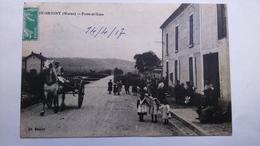 Carte Postale (F1) Ancienne De Passy Grigny , Poste Et Gare - Sonstige Gemeinden