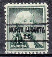 USA Precancel Vorausentwertung Preo, Locals South Carolina, North Augusta 813 - Vereinigte Staaten