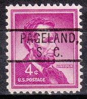 USA Precancel Vorausentwertung Preo, Locals South Carolina, Pageland 802 - Vorausentwertungen