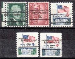 USA Precancel Vorausentwertung Preo, Locals South Carolina, Pawleys Island 848,5, 5 Diff. - Vereinigte Staaten