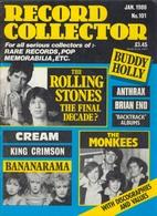 REVUE ANGLAISE RECORD COLLECTOR N° 101  De 1988  : THE ROLLING STONES    ETC ........... - Objets Dérivés