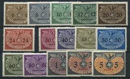 GENERALGOUVERNEMENT D 1-15 **, Dienstmarken: Hoheitszeichen, Prachtsatz, Mi. 60.- - Bezetting 1938-45