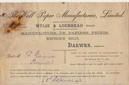 Document 1920 The Wall Paper Manufacrurers Papiers Peints Darwen Angleterre - Royaume-Uni