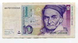 Deutsche Bundesbank / 1991 / Geldschein 10 Mark (10476) - [ 7] 1949-… : FRG - Fed. Rep. Of Germany