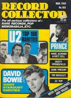 REVUE ANGLAISE RECORD COLLECTOR N° 103  De 1988  :  U2  ETC ........... - Objets Dérivés