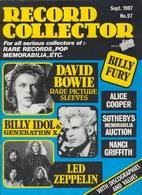 REVUE ANGLAISE RECORD COLLECTOR N° 97  De 1987 :   DAVID BOWIE   ETC ........... - Objets Dérivés