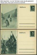 GANZSACHEN P 264/01-08 BRIEF, 1935, 6 Pf. Reichsparteitag, Komplette Serie, Ungebraucht, 8 Prachtkarten, Mi. 56.- - Deutschland