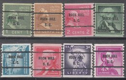 USA Precancel Vorausentwertung Preo, Bureau South Carolina, Rock Hill 8 Diff. Bureaus - Vereinigte Staaten