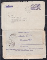 CZECHOSLOVAKIA, 1972, Used Aerogramme To India, Aeroplane, 3.80 Ks Printed Stamp - Postal Stationery