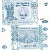 Moldova 5 Leu  2013  Pick 9 UNC - Moldova