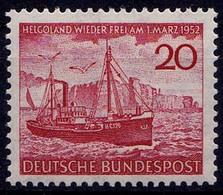 GERMANY Bundesrepublik  HELGOLAND Stamp 1952 MNH **  (7653 - BRD