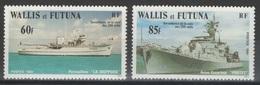 Wallis-et-Futuna - YT 279-280 ** - 1981 - Navires De Guerre - Wallis And Futuna