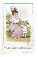 19955 - Dressy Lady What Are You Crying For Darling Boo-hoo .... Femme Et Enfant En Pleure - Humour