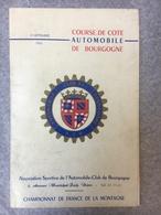 Course De Cote Automobile De Bourgogne Championnat De France De La Montagne 10 Septembre 1961 - Programmes